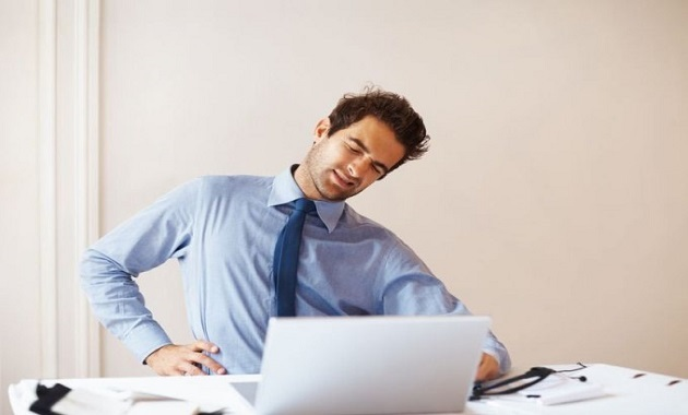 Backache occurs due to prolonged sitting